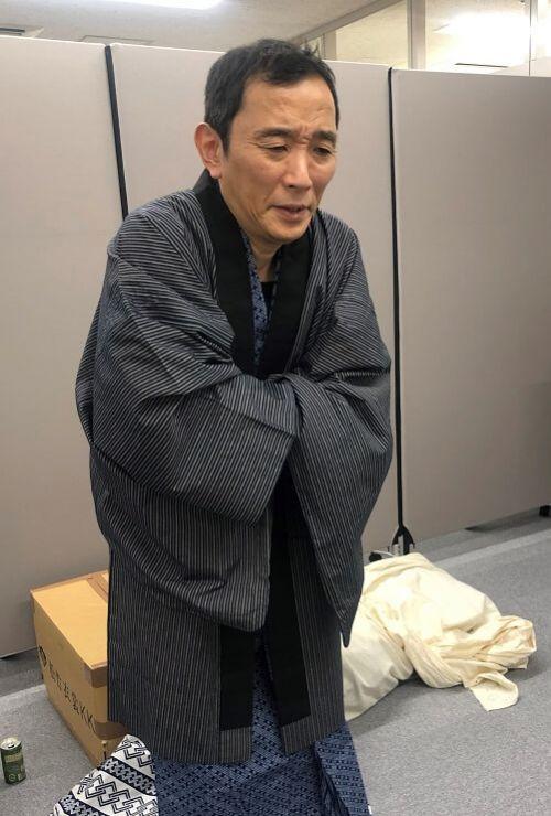 画像:宮川永井荷風和服